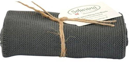 Solwang Handtuch gestrickt in Dunkelgrau H93