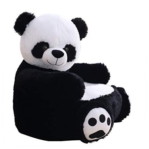 NUOBESTY Silla de sofá de felpa para niños, respaldo de dibujos animados, con forma de panda, asiento de apoyo infantil, para aprendizaje de bebés, sofá de peluche y juguetes para niños pequeños