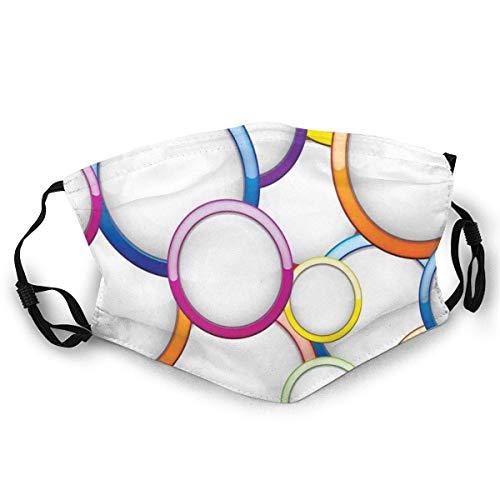 Reutilizable y lavable, diseño abstracto de burbujas y círculos, diseño redondo, para ciclismo, camping, viajes, talla única.