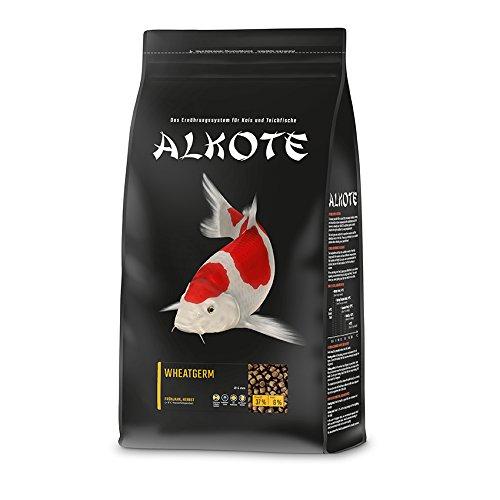 AL-KO-TE, 2-Jahreszeitenfutter für Kois, Herbst / Frühjahr, Schwimmende Pellets, 6 mm, Hauptfutter Wheatgerm, 3 kg