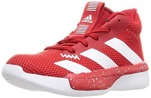 adidas Unisex Baby Pro Next 2019 K Basketballschuhe für Kinder, Blanco Scarlet FTWR White Scarlet, 36 2/3 EU