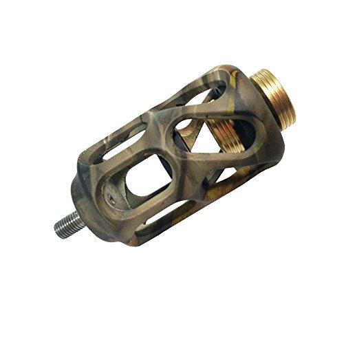 SHARROW Compound Bogen Stabilisator 3 Zoll Vibrationen Dämpfer Aluminium Stoßdämpfer für Jagd Bogensport Pfeile Zubehör (Camo)