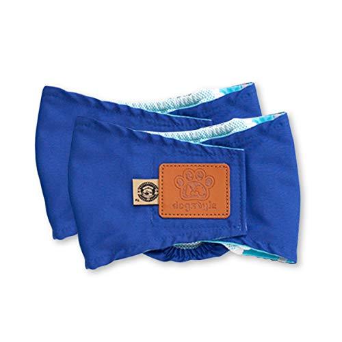 PETCUTE PETCUTE Hundewindeln Waschbare Bauchband für Männliche Hunde Hund Hygieneunterhose 2er Pack Hund Windeln wiederverwendbar