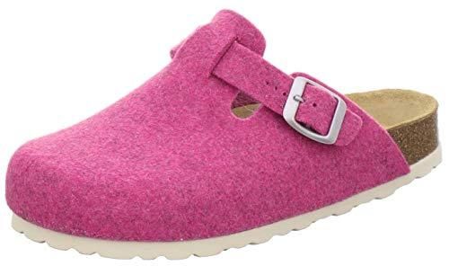 AFS-Schuhe Zapatillas de estar por casa para mujer cerradas de fieltro, cómodas, cálidas zuecos de invierno, fabricadas en Alemania, 26900, color Rosa, talla 37 EU