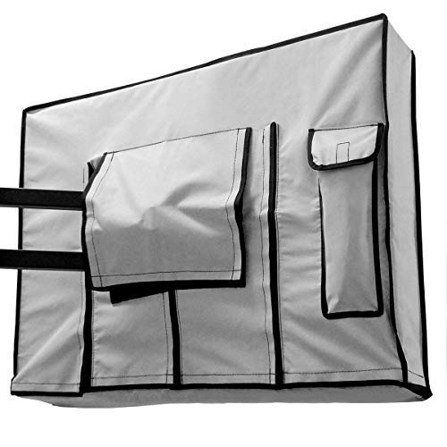 Garnetics Outdoor TV Cover 46, 48, 49, 50 inch - Weatherproof Protection for Flat TVs - Universal for Any Mounts and Stands - Light Grey