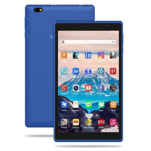 Tablette Tactile 8 Pouces, IPS Android 10.0 Certifié par Google GMS, Tablette pour Enfant 3Go RAM +32Go ROM/128 Go Extensible Quad Core, Touch WiFi Tablettes PC (Bleu)