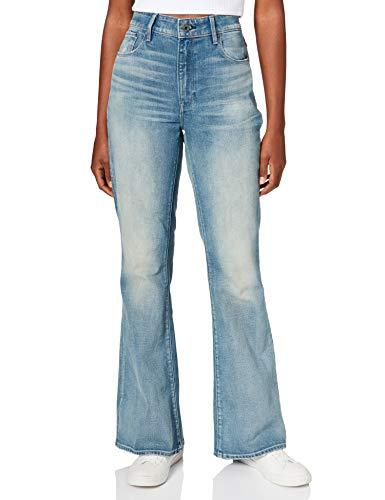 G-STAR RAW Womens 3301 High Waist Flare Jeans, Vintage cool Aqua C052-C277, 31W / 32L