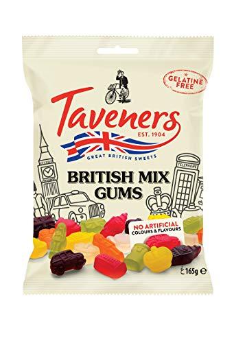 Taveners British Mix - Weingummi, gelatinefrei, 12er Pack (12 x 165 g), TAV333E2