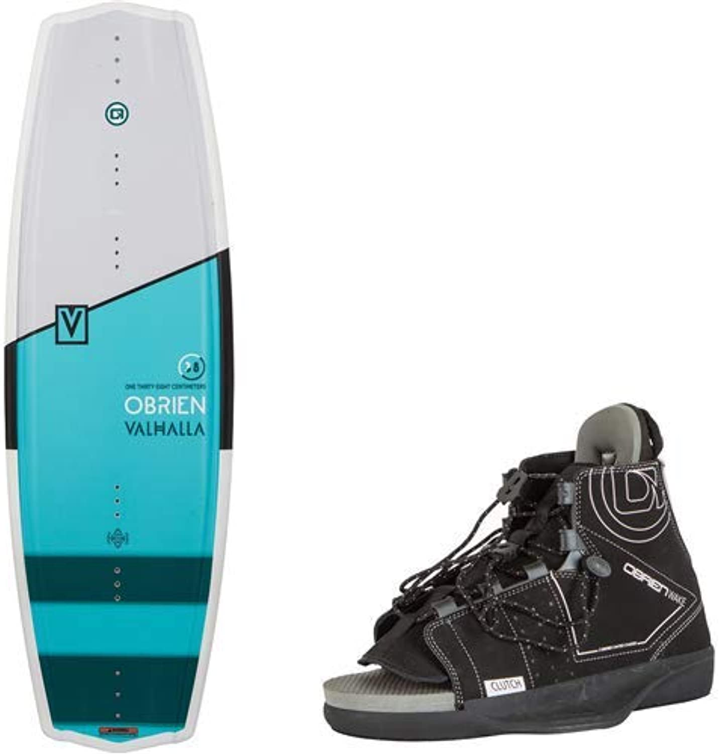 O'Brien Valhalla 133 Centimeter Wakeboard Package and Clutch Small Boot Bindings