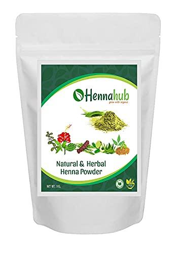 iqra HENNAHUB Herbal Henna Powder 100% Pure Ayurvedic Product 1kg with Natural Herbs