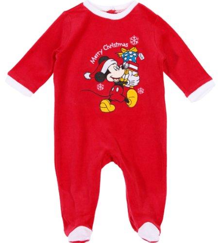 Pyjama noël bébé 'Merry christmas' Mickey Disney baby Rouge 6mois