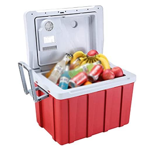 ZCED Refrigerador de Coche con Ruedas,Refrigerador de Coche Refrigerador Portátil de 12V para Automóvil con Asa, Refrigeración 220 V CA Cable de Alimentación para El Hogar y Adaptador