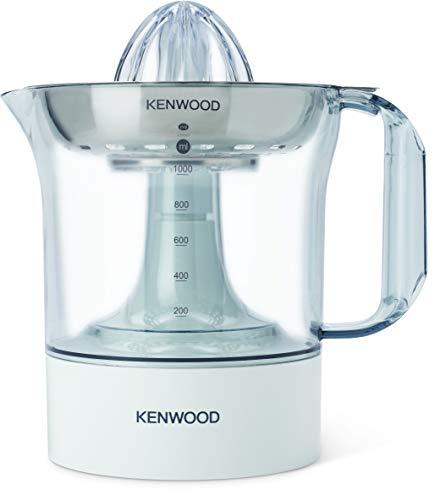 Kenwood JE290 - Exprimidor eléctrico, potencia 40 W, capacidad 1 L, rotación en 2 sentidos, filtro de acero inoxidable apto para lavavajillas, blanco