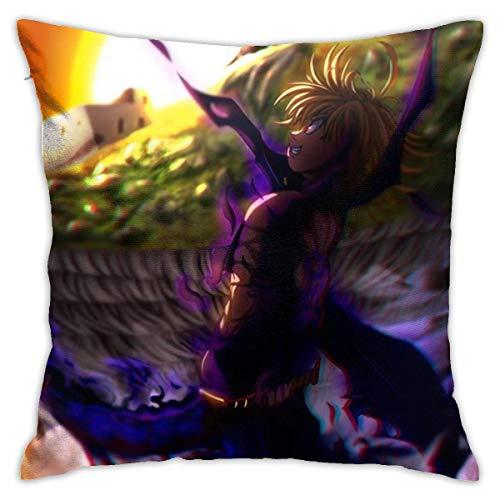 wenhe I 7ette pecati Capitali - Fundas para cojines decorativos, fundas de algodón para salón, sofá, cama, fundas para cojines suaves de 48 x 40 cm