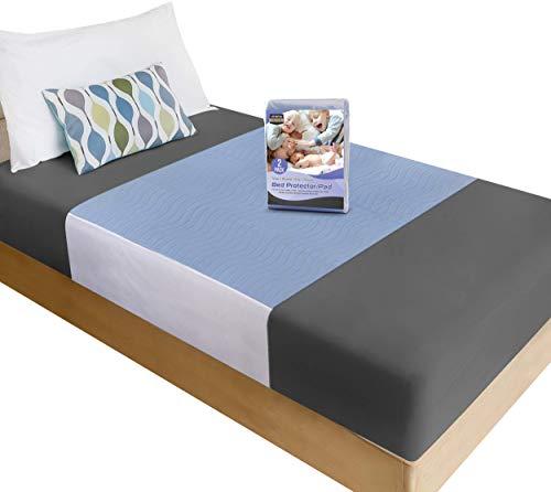 Utopia Bedding Inkontinenzauflage Waschbar 85 x 90 cm (2er Pack) - Matratzenauflage Wasserdicht - Bettunterlage für Inkontinenz & Blasenschwäche