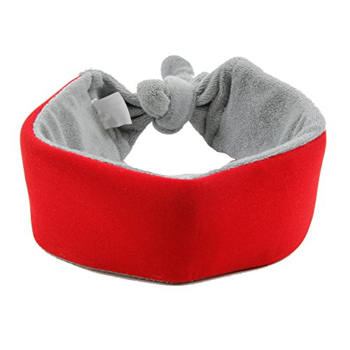 PET LIFE 'NEO BREEZE' gel Insertable and Neck Adjustable Comfortable Neoprene Fleece Cooling Safety Ice Pack Dog Neck Wrap, One Size, Red
