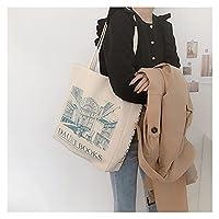 ンス キャンバス トートバッグ 女性のキャンバスショルダーバッグ毎日の買い物袋の学生のブックバッグコットン布ハンドバッグ大トート女の子 贈り物 (Color : Daunt Books)