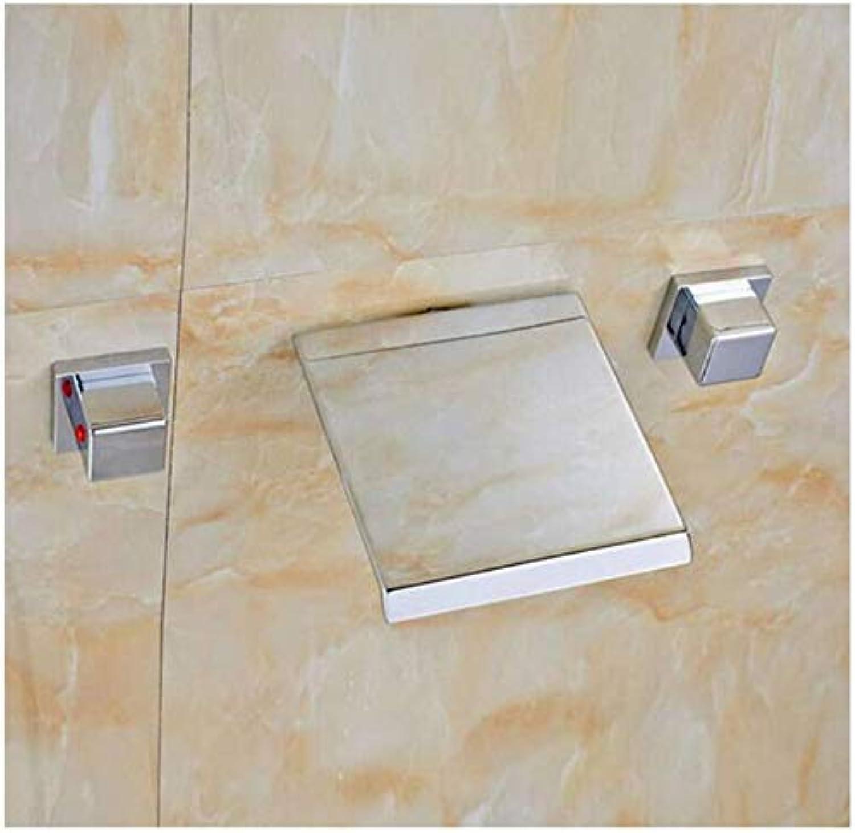 Wasserfallmischerhahntippen Sie Auf Die Chrom-Badarmaturen, Die Nur Eine Hand Heien, Kalten Wasserhahn Haben