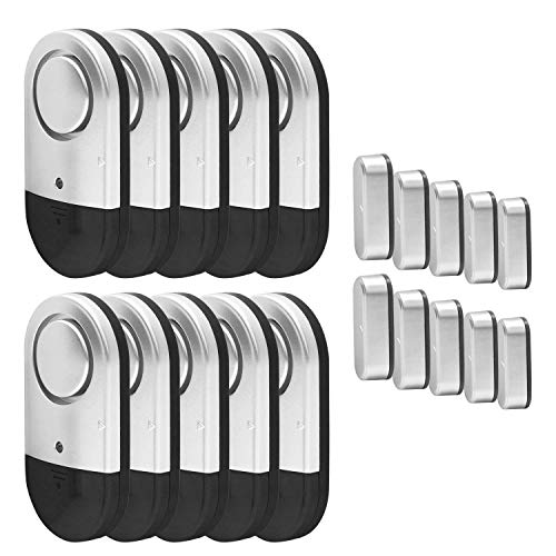 Door Window Alarms, Toeeson 120db Pool Alarms for Inground Pools, Magnet Triggered Door Security Alarms for Home (10 Pack)
