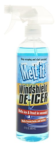 Melt it! Windshield De-Icer. Instantly Melts ice and Frost in Seconds for windshields, Windows, Mirrors, Key Locks, latches and More. No Scraping or Chipping. 17fl oz. (17oz)