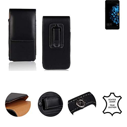 K-S-Trade® Holster Gürtel Tasche Für Hisense A2 Handy Hülle Leder Schwarz, 1x