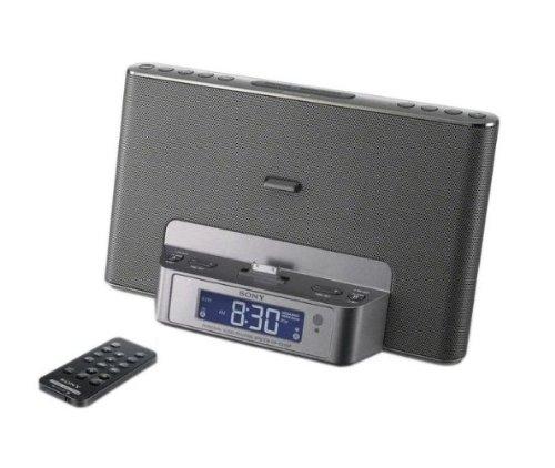 Sony ICFDS15IPS Dockingstation für Apple iPod/ iPhone mit Uhrenradio silber