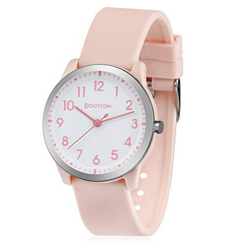 Kinderuhr, Kinder Uhr Jungen Mädchen Analog Quartz Uhr Uhren für Jungen Wasserdicht (Rosa)