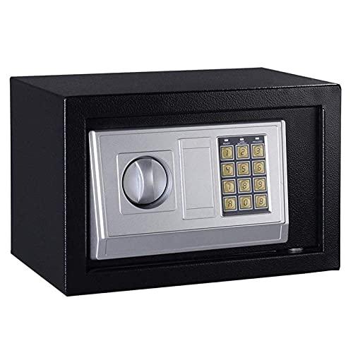 DJDLLZY Caja de Seguridad Digital pequeña Caja Fuerte de Acero electrónica Caja de Seguridad con Bloqueo de Teclado for la joyería Dinero Gabinete de Seguridad