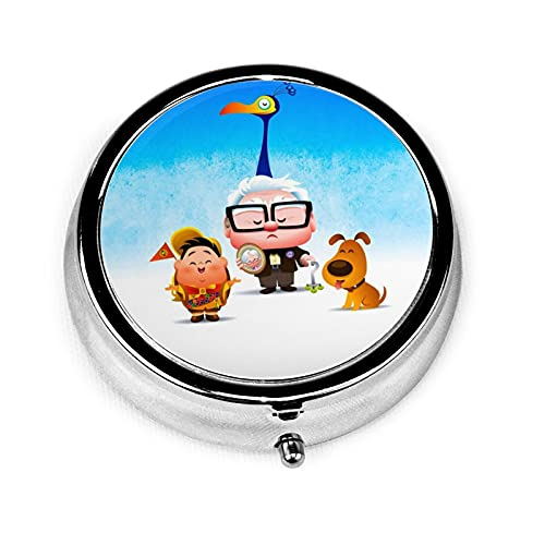 Pixar Dis-ney Company Up - Caja de medicina redonda con 3 rejillas