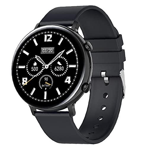 Tuimiyisou Inteligente Aptitud del Reloj del perseguidor Impermeable GW33 Bluetooth Llamadas Pulsera Deportes SmartWatch, rastreador de Ejercicios con el oxígeno de la Sangre Hombres Mujeres Negro