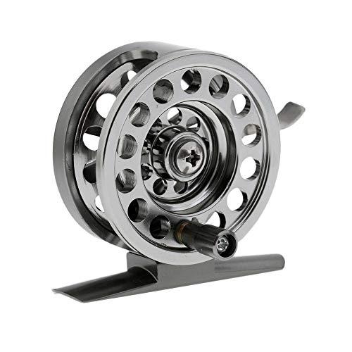 kaakaeu BLD50/BLD60 - Carrete de Pesca con Mosca (aleación de Aluminio, Ultraligero, con Freno de Mango, Accesorio para Pesca con Mosca de Hielo), One Color, Bld60