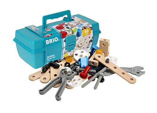BRIO Builder - 34586 - Boite à Outils Builder - 49 Pièces - Jeu de construction STEM - Inclus : boite à outil - Sans pile - Pour les garcons et les filles à partir de 3 ans