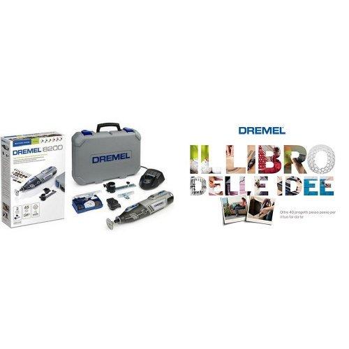 Multiutensile cordless al litio 10,8V, 45 accessor, 2 complementi e valigetta rigida + libro delle idee