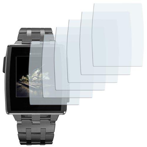 mumbi Schutzfolie kompatibel mit Pebble Steel Smartwatch Folie klar, Bildschirmschutzfolie (6X)