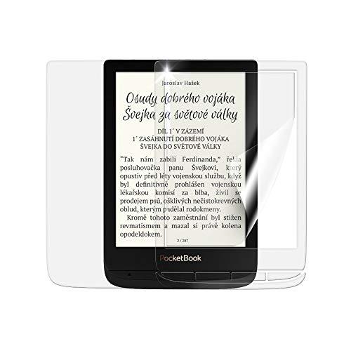 Beschermfolie SCREENSHIELD voor POCKETBOOK 627 Touch Lux 4 [2 stuks] - volledige dekking van het display en de achterzijde; geen pantserglas