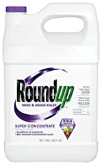 Best Roundup brand concentrate value for widespread weed problems For use in tank sprayers For use around flowers, shrubs and trees; on patios, walkways, driveways, gravel areas and mulch beds; along fences, edging and foundations; as well as large a...