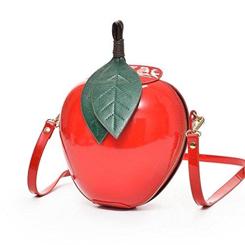 Schultertaschen Damen Leder Damenhandtaschen Klein Umhängetaschen Stylish Frauen Apfel Shopper Tasche Handtasche Clutch Crossbody Bag mit ReißVerschluss für Mädchen Damen Herren
