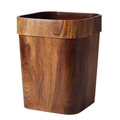 FAVOMOTO Bote de Basura de Madera Bote de Basura de Bambú Papelera Vintage Papelera para Oficina en Casa