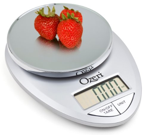 Ozeri Pro Digital Kitchen Food Scale, 1g to 12 lbs Capacity, Elegant Ch