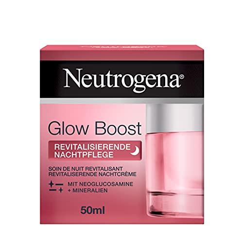 Neutrogena Glow Boost Revitalisierende Nachtpflege (50 ml), regenerierende Nachtcreme mit Neoglucosamine und Mineralien, regeneriert die Haut über Nacht und beschleunigt die natürliche Zellerneuerung