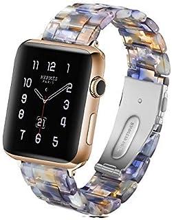 Hombres y mujeres Love Dfch Simple Fashion - Correa de reloj de resina para Apple Watch Series 5 y 4 de 44 mm y series 3 y...