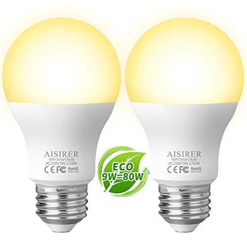 classement un comparer Ampoule connectée AISIRER WIFI Smart LED Lampe 9W806LM Compatible avec Amazon Alexa…