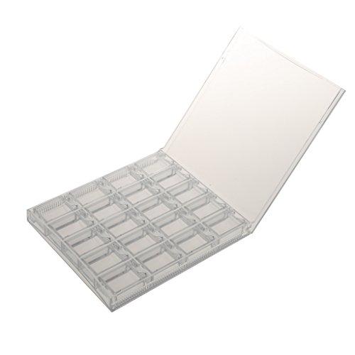 Vide En Plastique Affichage Poudre Glitter Boite Pr Ongles Manucure Nail Art Portable - Transparent