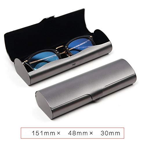 QLSGFBDIM Federmäppchen Brillenetui Aluminium Myopie Brillenetui Jungen kreative Persönlichkeit einfache tragbare leichte Anti-Stress-Mädchen Eye Box Trompete @ style13