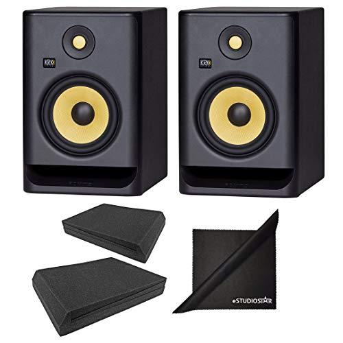 Buy KRK ROKIT RP7G4 7 G4 6.5 Studio Monitoring Speakers w/AxcessAbles Isolation Pads and eStudioSta...