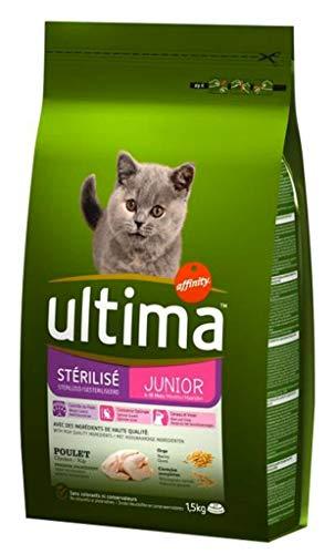 Ultima Esterilizados 1,5 Kg De Pollo Croquetas Gato Junior (Set De 3)