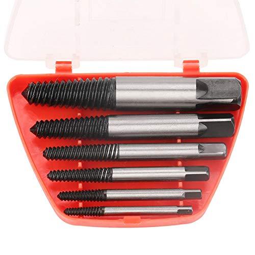 Juego de extractores de tornillos rotos fáciles de sacar, herramienta de extracción RT-Q06 de acero al cromo vanadio, 6 uds.