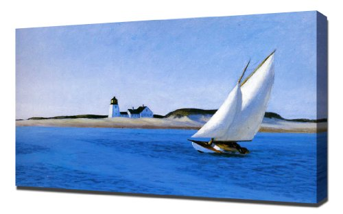 Pingoo Prints Edward Hopper - The Long Leg - Leinwandbild - Kunstdrucke