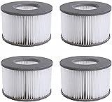 woejgo Filtro de repuesto para MSpa Whirlpool, cartucho de filtro de agua, para piscinas hinchables MSPA, versión mejorada, adecuado para todos los jacuzzi actuales (4 unidades)