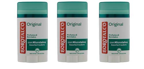 3x Roberts Borotalco Deodorant Deo Stick Deostick Original Fresh italien 40ml